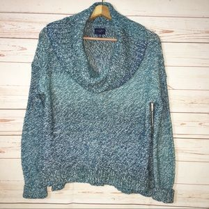American Eagle Outfitters Ombre Cowl Neck Sweater